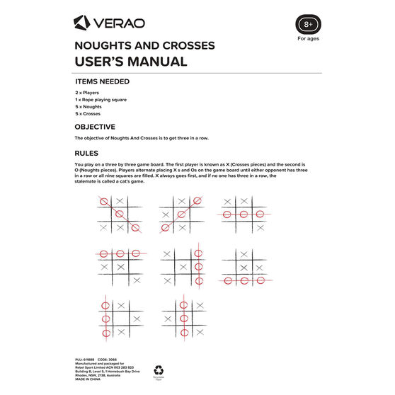 Verao Giant Noughts And Crosses, , rebel_hi-res