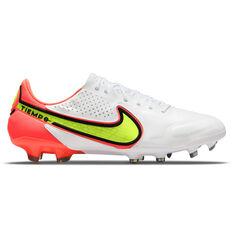 Nike Tiempo Legend 9 Elite Football Boots White/Yellow US Mens 4 / Womens 5.5, White/Yellow, rebel_hi-res