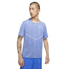 Nike Mens Dri-FIT Rise 365 Tee Blue XL, Blue, rebel_hi-res