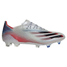 adidas X Ghosted .1 Football Boots Silver US Mens 7 / Womens 8, Silver, rebel_hi-res