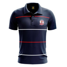 Sydney Roosters Mens Club Line Performance Polo Navy S, Navy, rebel_hi-res