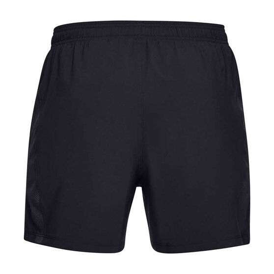 Under Armour Mens Launch 5in Running Shorts, Black, rebel_hi-res