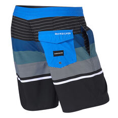 Quiksilver Mens Swell Vision Board Shorts Black/Blue 30, Black/Blue, rebel_hi-res