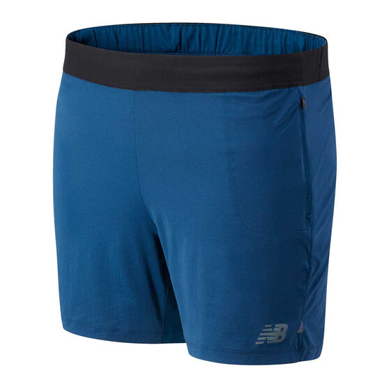 New Balance Mens Q Speed Fuel 7in Running Shorts, Blue, rebel_hi-res