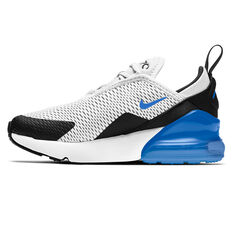 Nike Air Max 270 Kids Casual Shoes White/Blue US 11, White/Blue, rebel_hi-res
