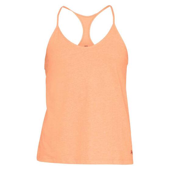 Under Armour Womens Fashion Tank, Orange, rebel_hi-res