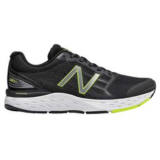 New Balance 680 v5 Mens Running Shoes Black / Yellow US 7, Black / Yellow, rebel_hi-res