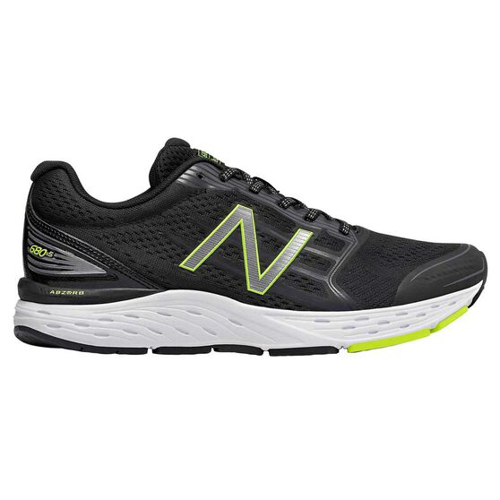 search for original detailed images official images New Balance 680 v5 Mens Running Shoes Black / Yellow US 9