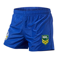 Parramatta Eels Mens Home Supporter Shorts Blue S, Blue, rebel_hi-res