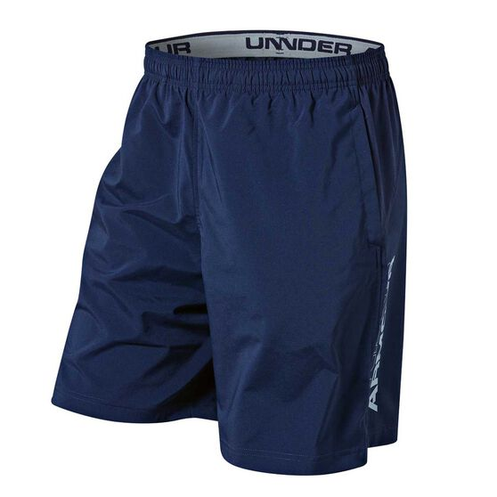 Under Armour Mens HIIT Woven Training Shorts, Navy, rebel_hi-res