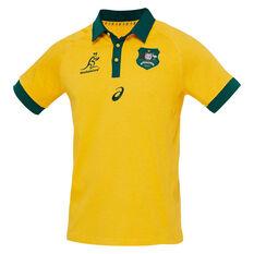 Wallabies 2020 Mens Traditional Short Sleeve Jersey Gold S, Gold, rebel_hi-res