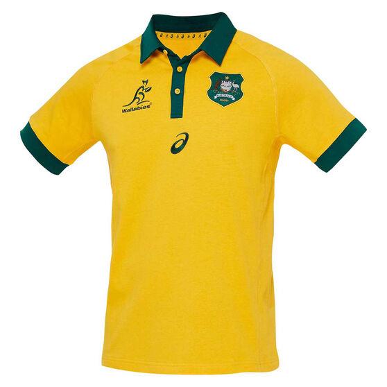Wallabies 2020 Mens Traditional Short Sleeve Jersey, Gold, rebel_hi-res