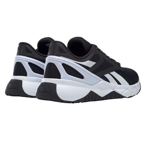 Reebok Nanoflex Womens Training Shoes, Black/White, rebel_hi-res