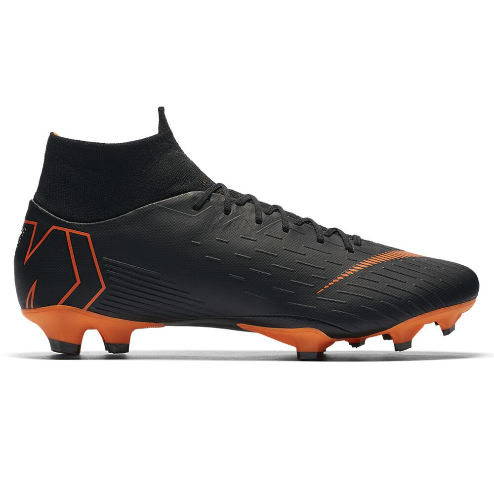 Nike Mercurial Superfly VI Pro Mens Football Boots Black   Orange US 10  Adult 63b3e70b448b