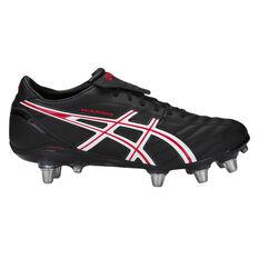 Asics Lethal Warno ST2 Mens Football Boots Black / Red US 7, Black / Red, rebel_hi-res