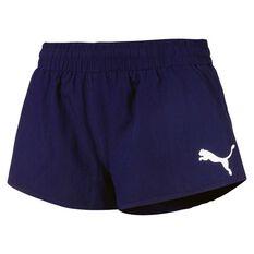 Puma Womens Active Essentials Woven Shorts Peacoat XS Adult, Peacoat, rebel_hi-res