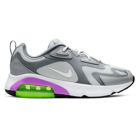 Nike Air Max 200 Womens Casual Shoes, White / Grey, rebel_hi-res