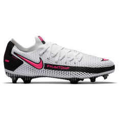 Nike Phantom GT Pro Kids Football Boots White/Pink US 4, White/Pink, rebel_hi-res