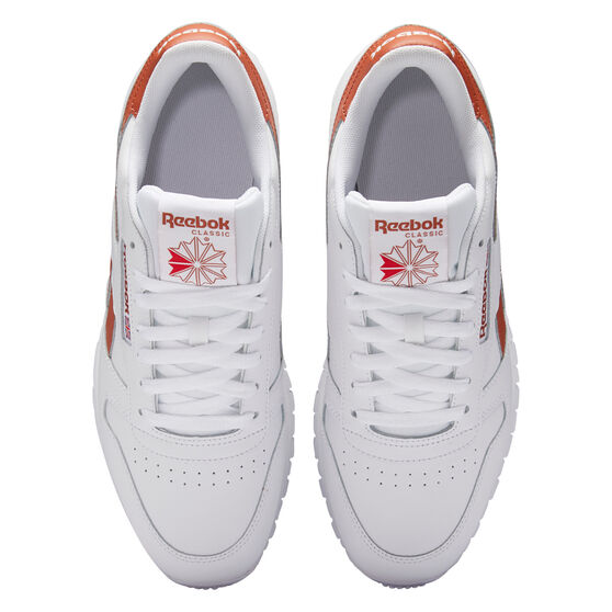 Reebok Classic Leather Casual Shoes, White/Brown, rebel_hi-res
