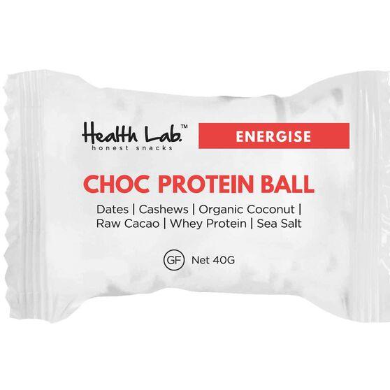 Health Lab  Energise Choc  Protein Ball, , rebel_hi-res