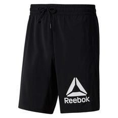 Reebok Mens WOR Graphic Training Shorts, Black, rebel_hi-res