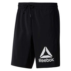 Reebok Mens WOR Graphic Training Shorts Black S, Black, rebel_hi-res