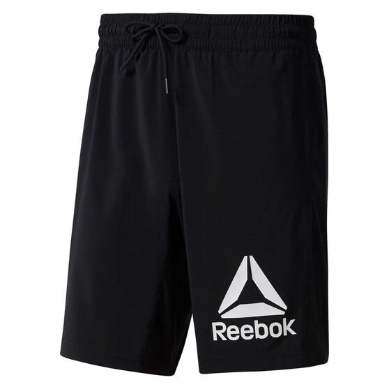 Reebok Mens WOR Graphic Training Shorts, Black, rebel_hi-res
