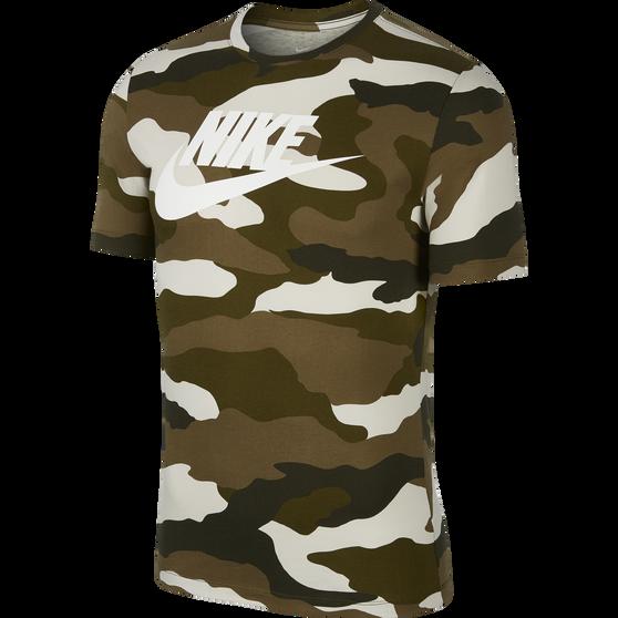 Nike Mens Sportswear Camo Tee, Khaki / White, rebel_hi-res