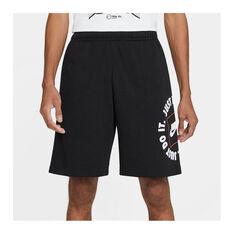 Nike Mens Sportswear Just Do It Fleece Shorts Black XS, Black, rebel_hi-res