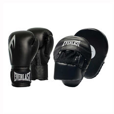 Everlast Power Glove and Mitt Combo Black 10oz, Black, rebel_hi-res