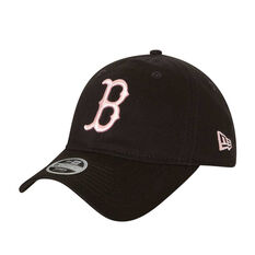 Boston Red Sox Womens New Era 9TWENTY Black and Pink Cap, , rebel_hi-res