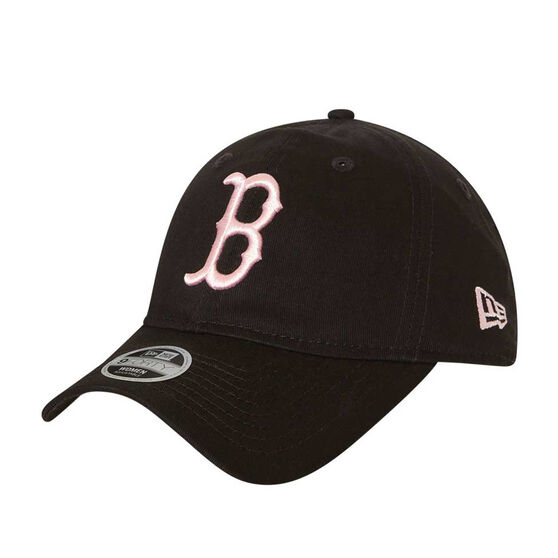 Boston Red Sox Womens New Era 9TWENTY Black and Pink Cap, , rebel_hi-res