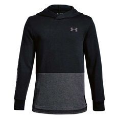 Under Armour Boys Double Knit Hoodie Black XS, Black, rebel_hi-res