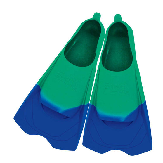 Zoggs Ultra Silicone Fins Aqua US 12 - 13, , rebel_hi-res