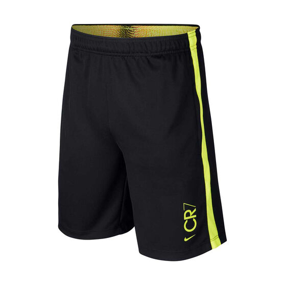 Nike Boys CR7 Dri-FIT Football Shorts, Black / Yellow, rebel_hi-res