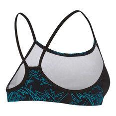 Speedo Womens Boom Crop Bikini Black / Print 8, Black / Print, rebel_hi-res