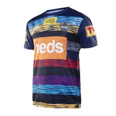 Gold Coast Titans 2020 Mens Captains Run Tee Blue S, Blue, rebel_hi-res