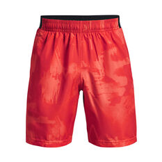Under Armour Mens Adapt Woven Shorts, Red, rebel_hi-res