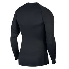 Nike Pro Mens Tight Fit Top, Black, rebel_hi-res