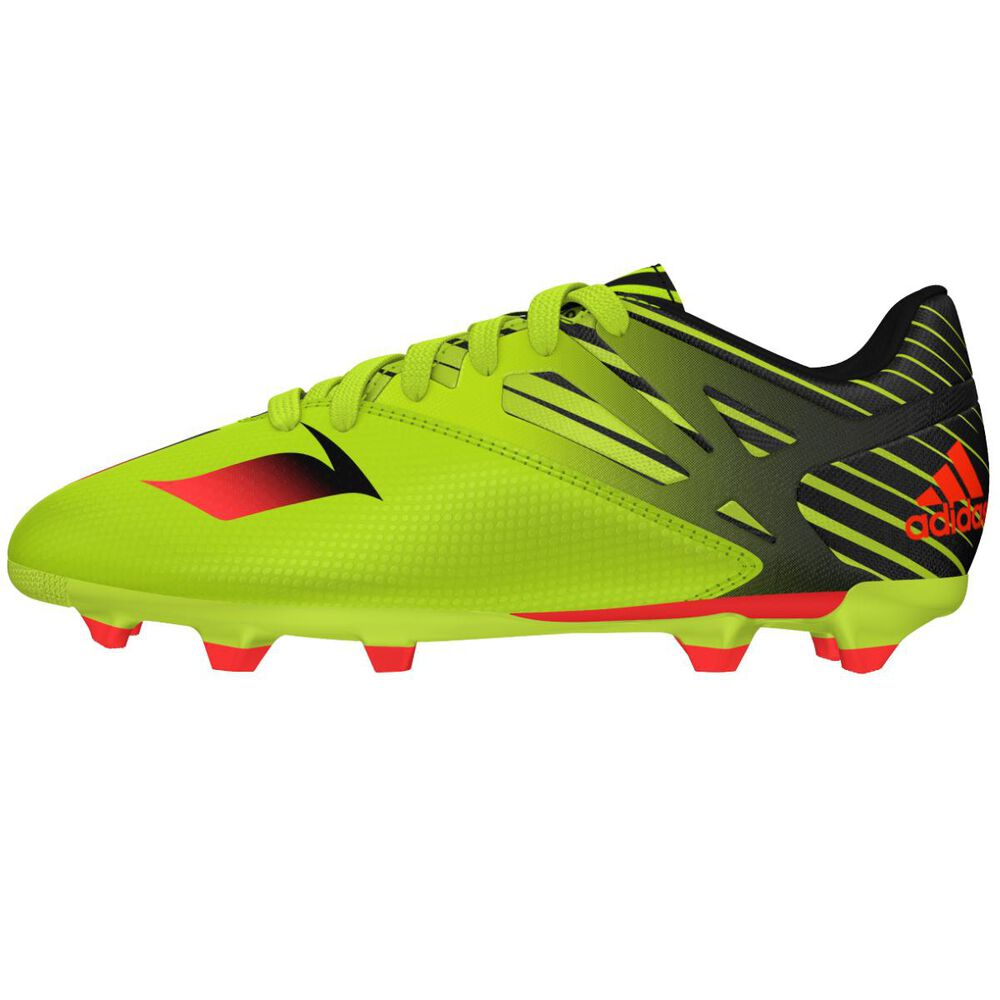 sale retailer 265ff 628e6 adidas Messi 15.3 Junior Football Boots Green   Black US 11 Junior, Green    Black