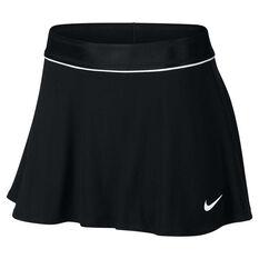 NikeCourt Womens Dry Skirt Black / White XS, Black / White, rebel_hi-res
