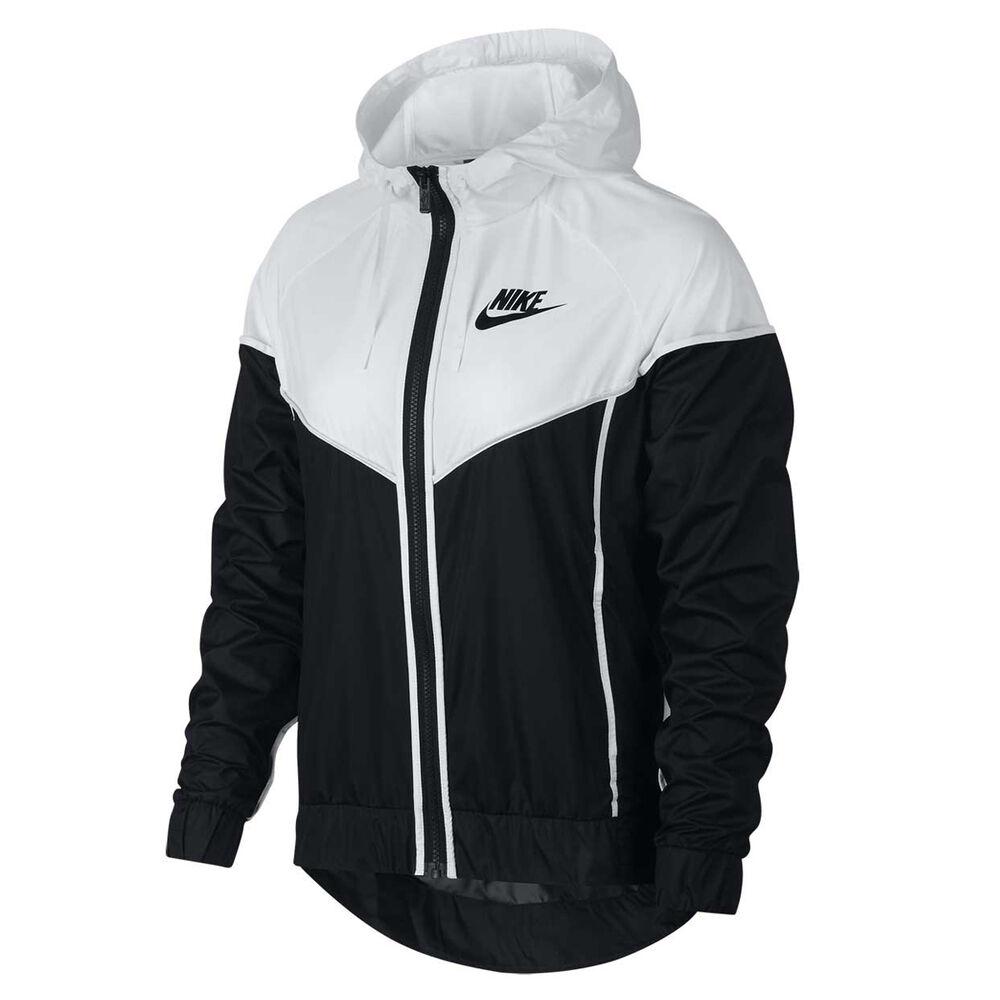 Nike Womens Sportswear Windrunner Jacket Black   White XS Adult ... d5be38e39