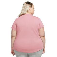 Nike Womens Sportswear Essential Tee Plus Pink 1X, Pink, rebel_hi-res