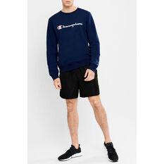Champion Mens Script Crew Sweatshirt Navy S, Navy, rebel_hi-res