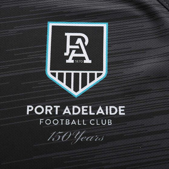 Port Adelaide 2020 Mens Training Tee, Dark Grey, rebel_hi-res