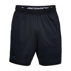 Under Armour Mens MK 1 Training Shorts Black XS Adult, Black, rebel_hi-res