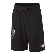 Nike Boys Wings Futura Basketball Shorts Black / White S, Black / White, rebel_hi-res