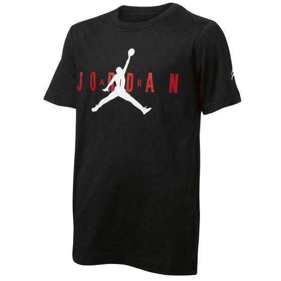 Nike Junior Boys Jordan Tee, Black, rebel_hi-res