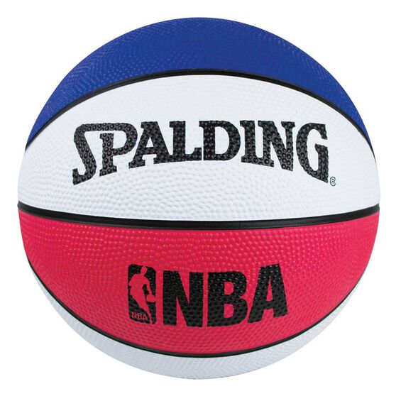 Spalding NBA Mini Outdoor Basketball Red / White 3, , rebel_hi-res