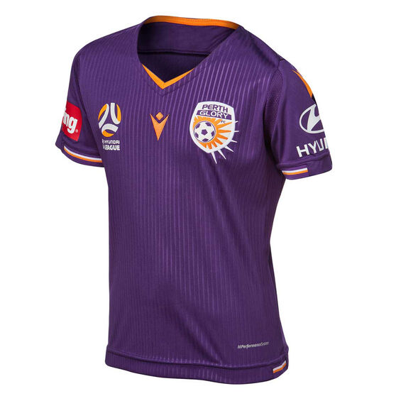 Perth Glory 2019/20 Youth Home Jersey, Purple, rebel_hi-res